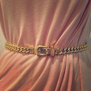 GUCCI Gold-plated Cuban Link Chain Belt